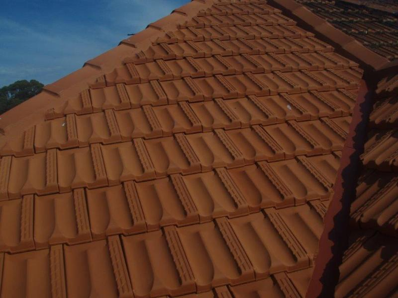 TP Roofing - Terracotta re-roof valley and ridge capping
